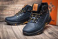Зимние мужские кожаные ботинки в стиле a Black обувь качество тепло комфорт