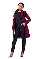 Стильное женское пальто Марсала