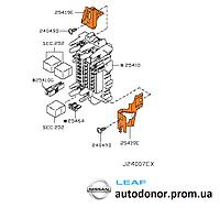 Кронштейн блока предохранителей подторпедного Nissan Leaf ZE0 / AZE0 (10-17) 24317-1KA0A