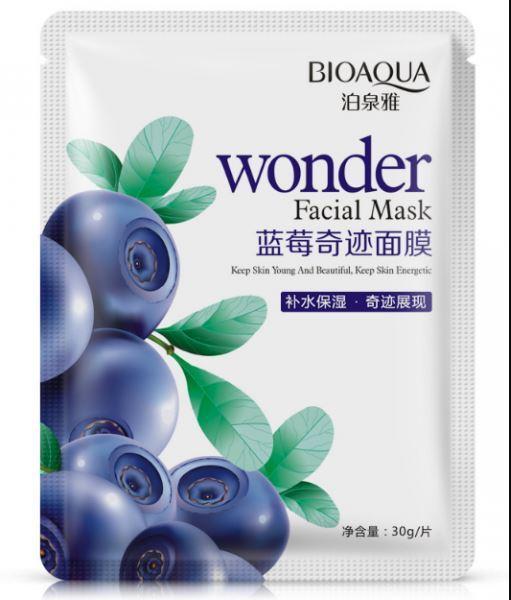 Bioaqua тканинна маска для обличчя з екстрактом чорниці ( лохини )