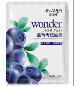 Bioaqua тканевая маска для лица с экстрактом черники ( голубики )