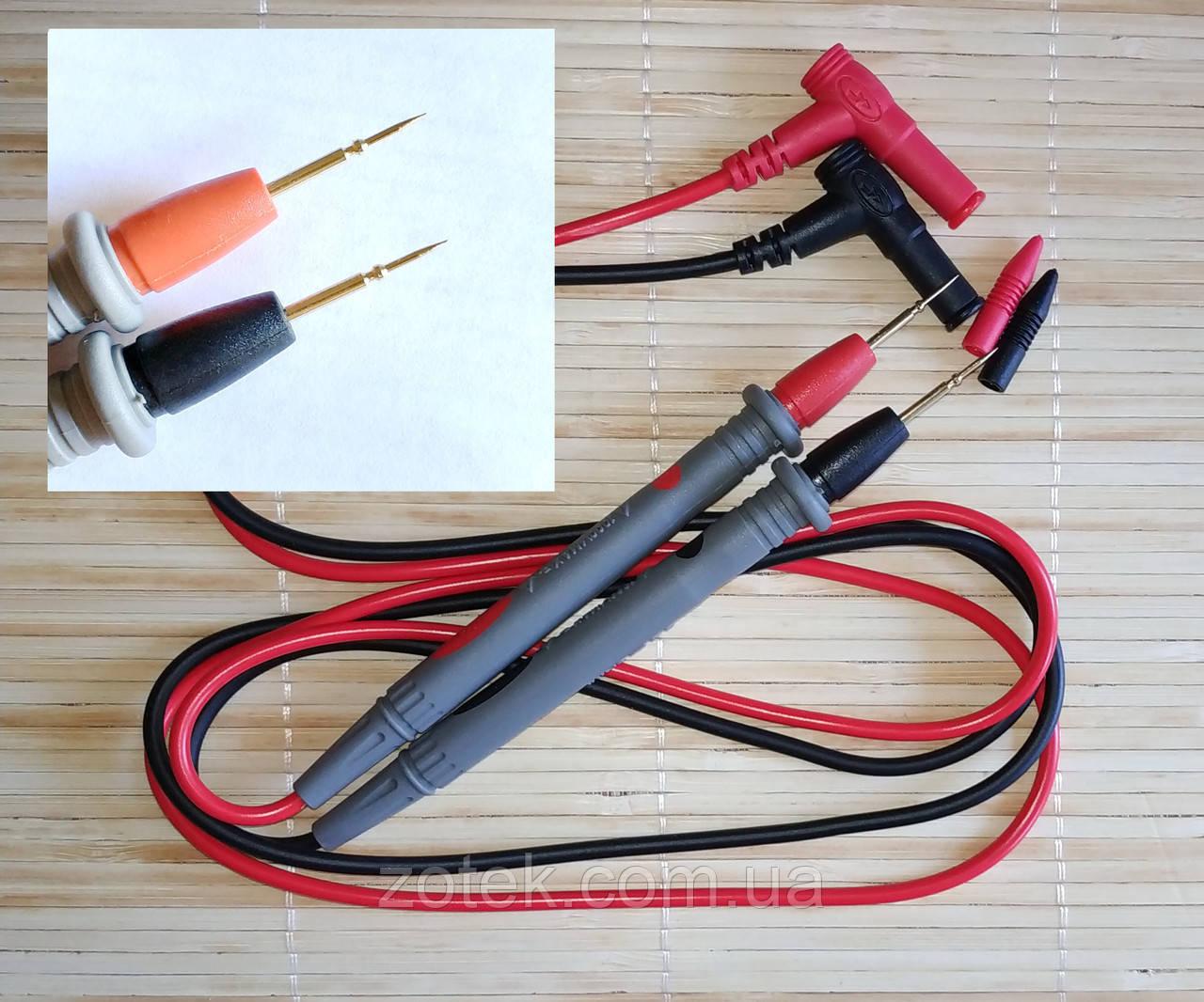 Щупи для мультиметра 20А з голкою на кінці