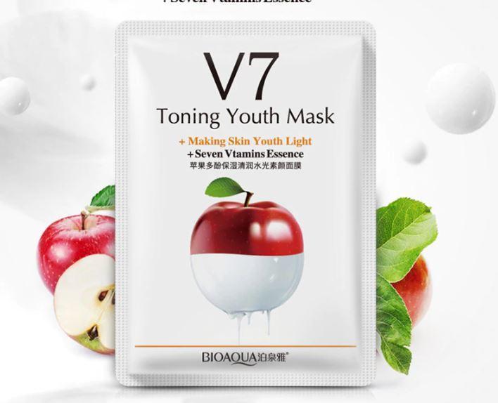 Rorec V7 тканевая маска  с экстрактом яблока