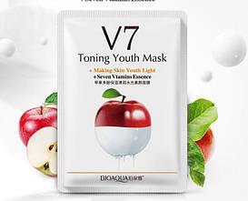 Bioaqua V7 тканевая маска  с экстрактом яблока