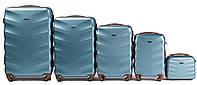 Комплект пластиковых чемоданов Wings 402-5 на 4 колесах, фото 1