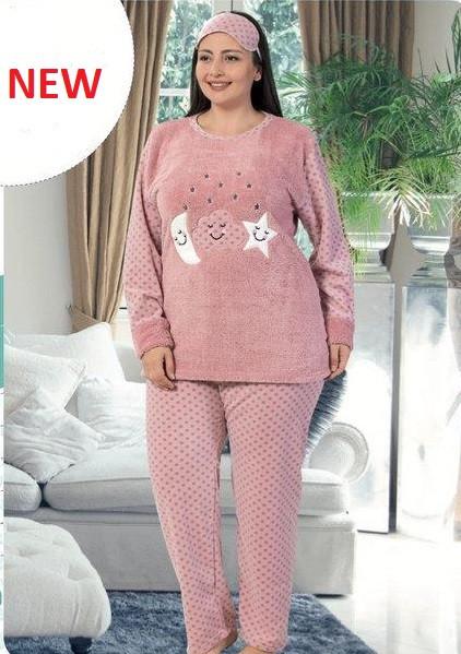 9137641c0c2b1 Купить Женская тёплая пижама больших размеров продажа в интернет ...