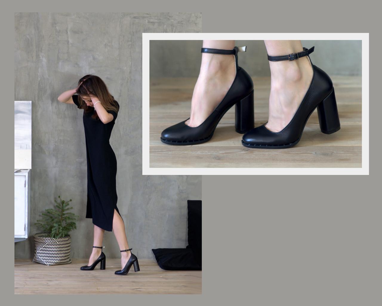 Туфли с тонким ремешком