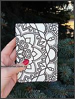 """Обложка на паспорт """"Узор Менди"""", фото 1"""