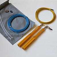 Скоростная скакалка KETIA Gold (алюминиевые ручки, запасной кабель)