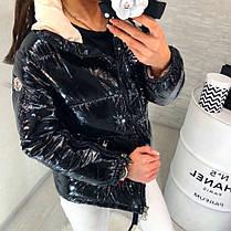 Женская Куртка (103)464. (2 цвета) Размеры: М=42, Л=44, ХЛ=46. Наполнитель: холофайбер  , фото 2