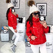 Женская Куртка (103)464. (2 цвета) Размеры: М=42, Л=44, ХЛ=46. Наполнитель: холофайбер  , фото 3