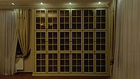 Книжный шкаф из массива ясеня библиотека