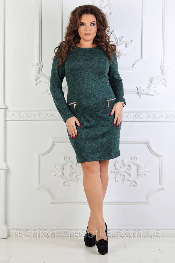 Шикарное женское платье ткань  ангора софт в размерах 50-60