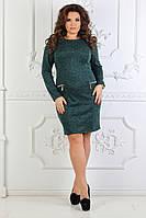 Шикарное женское платье ткань  ангора софт в размерах 50-60, фото 1