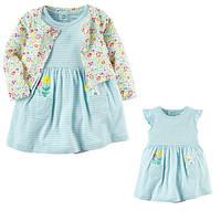 Комплект плаття-боді з кардіганом для дівчинки Carters квітка
