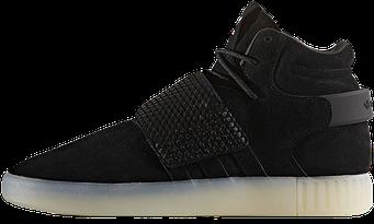 """Мужские кроссовки Adidas Tubular Invader """"Black"""" (люкс копия)"""
