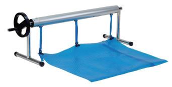 🔥✅Ролета навивочная передвижная 2,7 - 4,4 м Vagner Pool. Наматывающее устройство