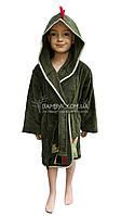 Nusa детский халат с аппликацией дракончика NS-drakosha