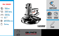 Машина шлифовальная для поверхностной обработки гипса 1050 Вт, GRAPHITE  59G262.