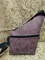 Барсетка слинг на грудь искусств кожа Унисекс/Cумка спортивные для через плечо(ОПТ), фото 1