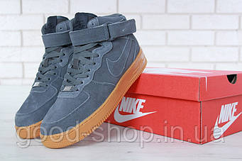 "Мужские зимние кроссовки Nike Air Force 1 Winter High ""Grey"" (люкс копия)"