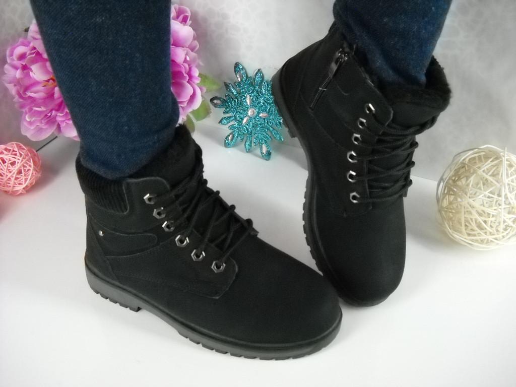 50f57f7863e1 Ботинки Timber-lend черные - Интернет- магазин VLADES cтиль обуви, который  удобен всем