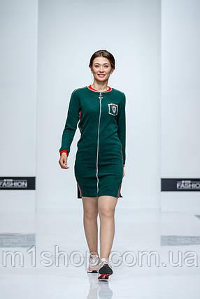 Женское спортивное платье с молнией спереди (Американо lzn), фото 2