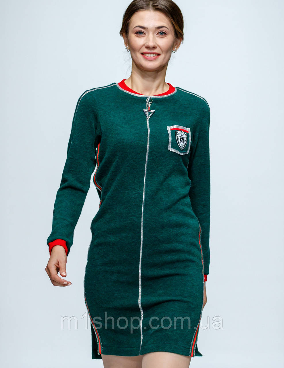 Женское спортивное платье с молнией спереди (Американо lzn)
