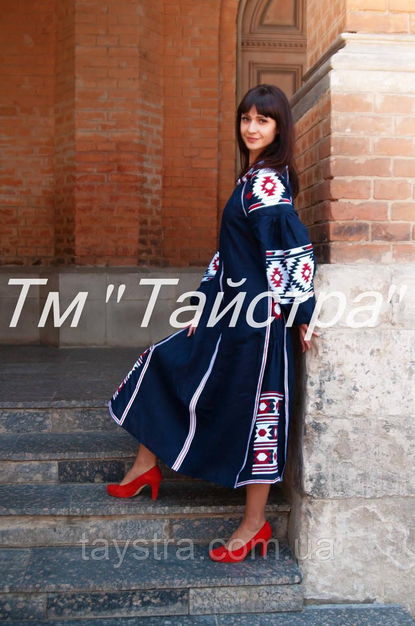 Вышитое платье бохо вышиванка лен 31052642e3c2c