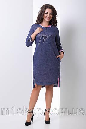 Женское повседневное платье со стразами больших размеров (Барселона lzn), фото 2