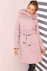 Женское молодежное зимнее пальто Мирайн, мех песец