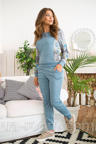 Женский костюм №211 голубой, фото 2