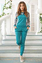 Женский костюм №211 бирюза