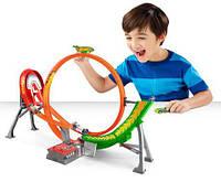 Hot Wheels Трек Хот Вилс Безумный форсаж с 5-ю машинками (Power Shift Raceway Motorized Loop & Jump)