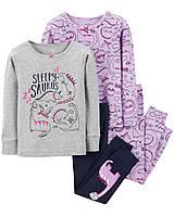 Пижама Картерс (Carter's) для девочки 3Т сиреневая