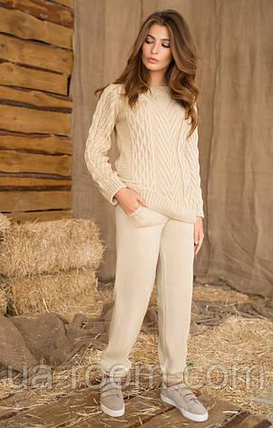 Женский вязанный костюм (кофта+штаны) №409, фото 2
