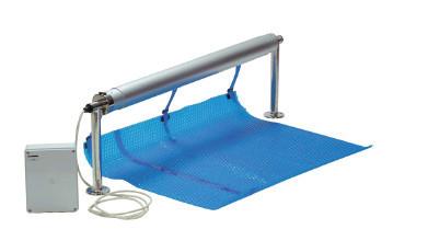 Ролета навивочная стационарная с электроприводом 3,7-5,4 м Vagner Pool. Наматывающее устройство