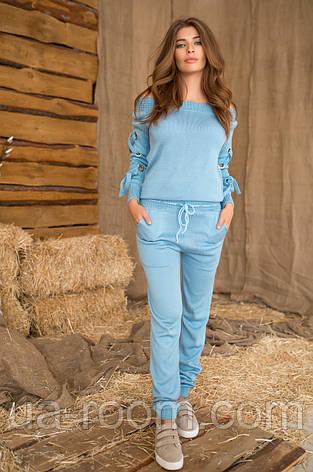 Женский вязанный костюм (кофта + штаны) №427, фото 2