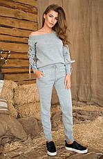 Женский вязанный костюм (кофта + штаны) №427, фото 3