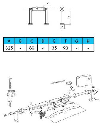 Ролета навивочная стационарная с электроприводом 5,4-7,1 м Vagner Pool. Наматывающее устройство, фото 2