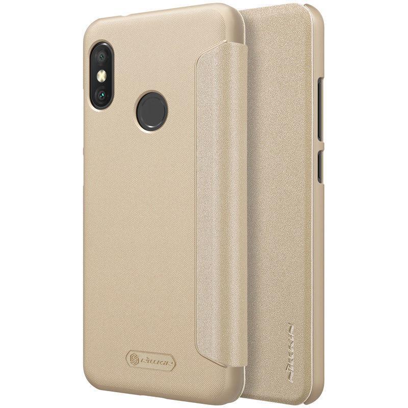 Nillkin Xiaomi Redmi 6 Pro/Mi A2 Lite New Sparkle Leather Case Gold Чехол Книжка