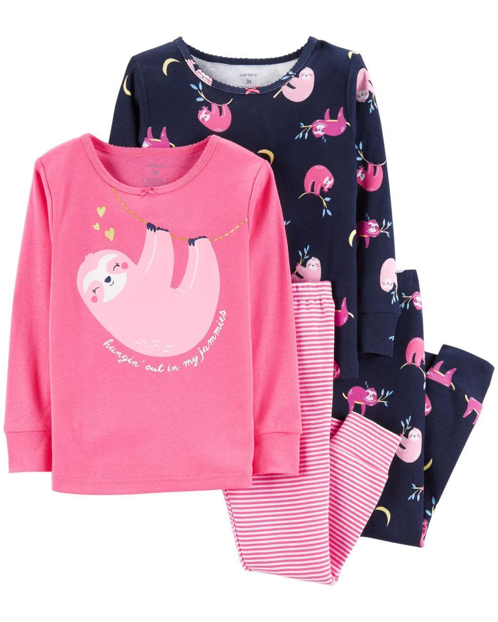 Пижама Картерс (Carter's) для девочки 2Т( 88-93 см) темная