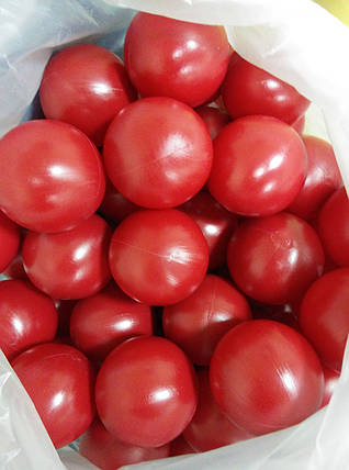 Шарики для сухого бассейна Ø8см 200шт, цвет красный, производство Украина, фото 2