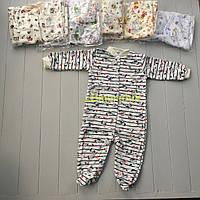 Человечек для новорожденного байковый (100% хлопок, начес) 68, 74, 80, 86 р-р., цвет на выбор