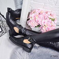 """Ботинки, ботильоны черные демисезонные """"Norma"""" эко кожа, повседневная,осенняя, женская обувь, фото 2"""