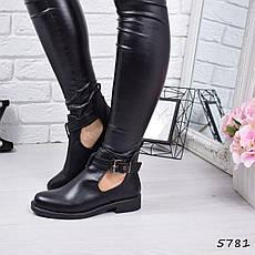 """Ботинки, ботильоны черные демисезонные """"Norma"""" эко кожа, повседневная,осенняя, женская обувь, фото 3"""