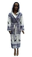 Теплий плюшевий халат з капюшоном Polar №201803, фото 1