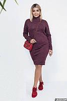 Платье облегающее теплое 39082 (42–54р) в расцветках, фото 1