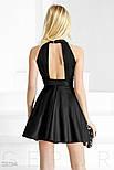Черное монохромное платье А-силуэта, фото 4