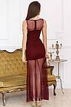 Смелое платье с глубоким вырезом цвета марсала, фото 3